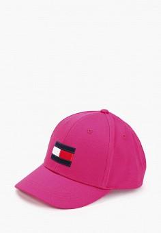 Бейсболка, Tommy Hilfiger, цвет: розовый. Артикул: TO263CGIBOW6. Девочкам / Аксессуары
