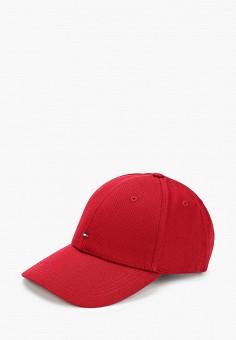 Бейсболка, Tommy Hilfiger, цвет: бордовый. Артикул: TO263CMHXLO2. Аксессуары / Головные уборы