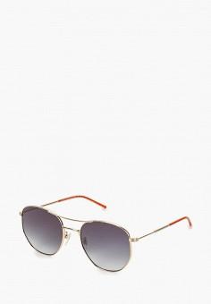 Очки солнцезащитные, Tommy Hilfiger, цвет: золотой. Артикул: TO263DUERCS2. Аксессуары / Очки