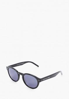Очки солнцезащитные, Tommy Hilfiger, цвет: черный. Артикул: TO263DUIUVW9. Аксессуары / Очки