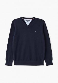 Пуловер, Tommy Hilfiger, цвет: синий. Артикул: TO263EBCCBU4.