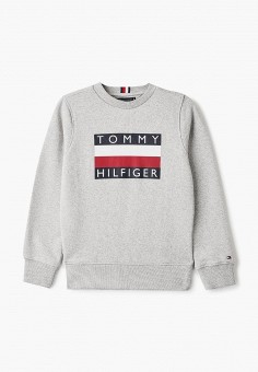 Свитшот, Tommy Hilfiger, цвет: серый. Артикул: TO263EBIBOZ9.