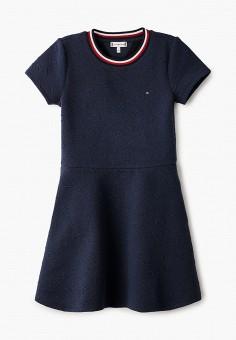 Платье, Tommy Hilfiger, цвет: синий. Артикул: TO263EGIBPC4. Девочкам / Одежда / Платья и сарафаны