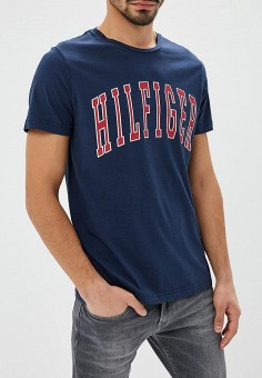 Футболка, Tommy Hilfiger, цвет: синий. Артикул: TO263EMBWFM6. Tommy Hilfiger
