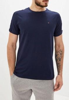 Футболка домашняя, Tommy Hilfiger, цвет: синий. Артикул: TO263EMFVUM8. Одежда / Домашняя одежда