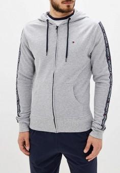 Толстовка домашняя, Tommy Hilfiger, цвет: серый. Артикул: TO263EMFVUN3. Одежда / Домашняя одежда