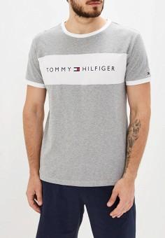 Футболка домашняя, Tommy Hilfiger, цвет: серый. Артикул: TO263EMFVUN5. Одежда / Домашняя одежда