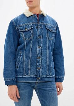 Куртка джинсовая, Tommy Hilfiger, цвет: синий. Артикул: TO263EMFVVM1. Одежда / Верхняя одежда / Джинсовые куртки