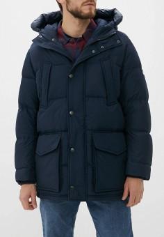 Пуховик, Tommy Hilfiger, цвет: синий. Артикул: TO263EMFVVM4. Одежда / Верхняя одежда / Пуховики и зимние куртки