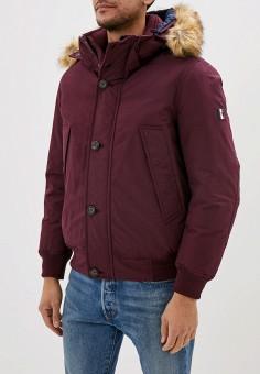 Куртка утепленная, Tommy Hilfiger, цвет: бордовый. Артикул: TO263EMFVVN6. Одежда / Верхняя одежда / Демисезонные куртки