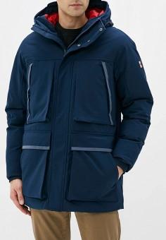 Куртка утепленная, Tommy Hilfiger, цвет: синий. Артикул: TO263EMFVVO3. Одежда / Верхняя одежда / Пуховики и зимние куртки / Зимние куртки