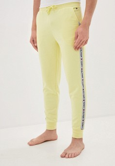 Брюки домашние, Tommy Hilfiger, цвет: желтый. Артикул: TO263EMGENC3. Одежда / Домашняя одежда
