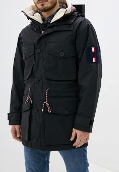Парка, Tommy Hilfiger, цвет: черный. Артикул: TO263EMHKTB0. Одежда / Верхняя одежда / Парки