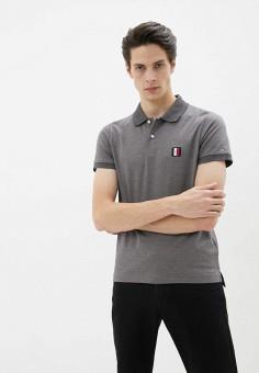 Поло, Tommy Hilfiger, цвет: серый. Артикул: TO263EMHLCL0.