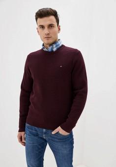 Джемпер, Tommy Hilfiger, цвет: бордовый. Артикул: TO263EMHLCL9. Одежда / Джемперы, свитеры и кардиганы / Джемперы и пуловеры