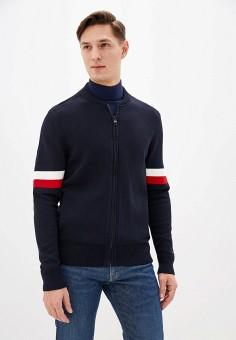 Кардиган, Tommy Hilfiger, цвет: синий. Артикул: TO263EMHLCM9. Одежда / Джемперы, свитеры и кардиганы / Кардиганы