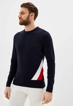 Джемпер, Tommy Hilfiger, цвет: синий. Артикул: TO263EMHLCQ5. Одежда / Джемперы, свитеры и кардиганы / Джемперы и пуловеры