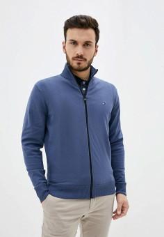 Кардиган, Tommy Hilfiger, цвет: синий. Артикул: TO263EMHVBI3. Одежда / Джемперы, свитеры и кардиганы / Кардиганы
