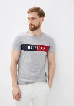 Футболка, Tommy Hilfiger, цвет: серый. Артикул: TO263EMHVBJ5.