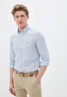 Рубашка, Tommy Hilfiger, цвет: голубой. Артикул: TO263EMHVBL7. Одежда