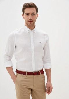 Рубашка, Tommy Hilfiger, цвет: белый. Артикул: TO263EMHVBL9.
