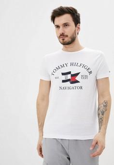 Футболка, Tommy Hilfiger, цвет: белый. Артикул: TO263EMHVBP6.