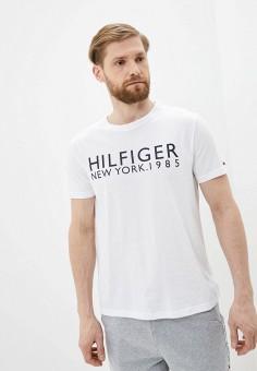 Футболка домашняя, Tommy Hilfiger, цвет: белый. Артикул: TO263EMHVCN2. Одежда / Домашняя одежда