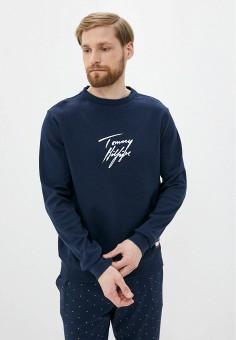 Лонгслив домашний, Tommy Hilfiger, цвет: синий. Артикул: TO263EMHVCQ6. Одежда / Домашняя одежда