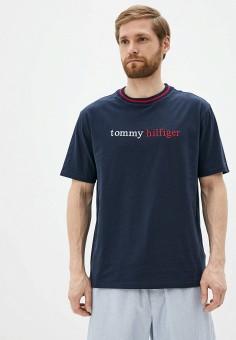 Футболка, Tommy Hilfiger, цвет: синий. Артикул: TO263EMHVCS1. Одежда / Домашняя одежда