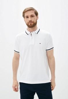 Поло, Tommy Hilfiger, цвет: белый. Артикул: TO263EMIVTW5. Одежда / Футболки и поло