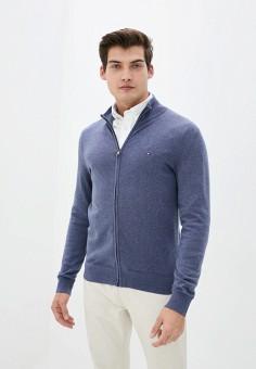 Кардиган, Tommy Hilfiger, цвет: синий. Артикул: TO263EMIVTW8. Одежда / Джемперы, свитеры и кардиганы / Кардиганы