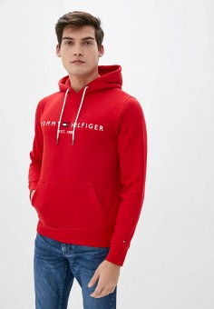 Худи, Tommy Hilfiger, цвет: красный. Артикул: TO263EMIVTX1. Одежда / Толстовки и олимпийки / Худи