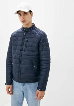 Куртка утепленная, Tommy Hilfiger, цвет: синий. Артикул: TO263EMIVTX5. Одежда / Верхняя одежда / Демисезонные куртки