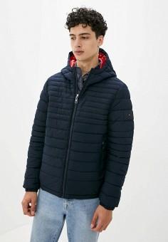 Куртка утепленная, Tommy Hilfiger, цвет: синий. Артикул: TO263EMIVTY9. Одежда / Верхняя одежда / Демисезонные куртки