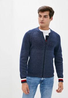 Кардиган, Tommy Hilfiger, цвет: синий. Артикул: TO263EMIVUG6. Одежда / Джемперы, свитеры и кардиганы / Кардиганы