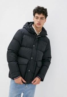 Куртка утепленная, Tommy Hilfiger, цвет: черный. Артикул: TO263EMIVUJ3. Одежда / Верхняя одежда / Пуховики и зимние куртки