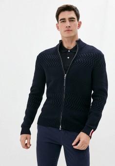 Кардиган, Tommy Hilfiger, цвет: синий. Артикул: TO263EMIVUP6. Одежда / Джемперы, свитеры и кардиганы / Кардиганы