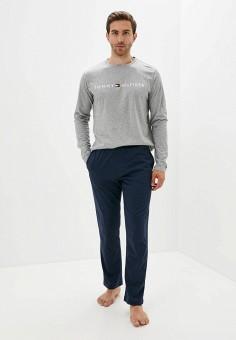 Пижама, Tommy Hilfiger, цвет: серый, синий. Артикул: TO263EMJNZI4. Одежда / Домашняя одежда
