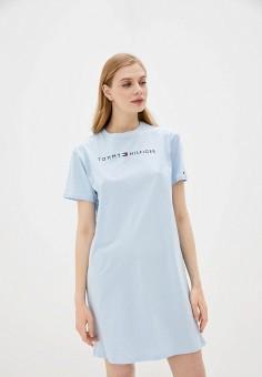 Платье домашнее, Tommy Hilfiger, цвет: голубой. Артикул: TO263EWHFSM2. Одежда / Домашняя одежда