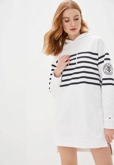 Платье, Tommy Hilfiger, цвет: белый. Артикул: TO263EWHJPK3.