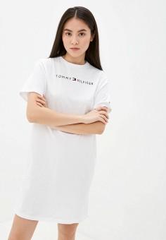 Платье домашнее, Tommy Hilfiger, цвет: белый. Артикул: TO263EWJICG2. Одежда / Домашняя одежда