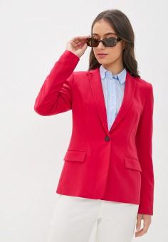 Пиджак, Tommy Hilfiger, цвет: розовый. Артикул: TO263EWJJAC3.