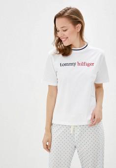 Футболка домашняя, Tommy Hilfiger, цвет: белый. Артикул: TO263EWJKWZ1. Одежда / Домашняя одежда