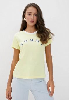 Футболка домашняя, Tommy Hilfiger, цвет: желтый. Артикул: TO263EWKISO1. Одежда / Домашняя одежда