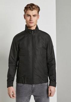 Куртка утепленная, Tom Tailor Denim, цвет: черный. Артикул: TO793EMHQEK0. Одежда / Верхняя одежда / Демисезонные куртки