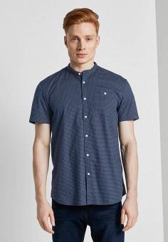Рубашка, Tom Tailor Denim, цвет: синий. Артикул: TO793EMIAYO7. Одежда / Рубашки