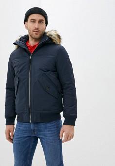 Куртка утепленная, Tom Tailor Denim, цвет: синий. Артикул: TO793EMIBJM1. Одежда / Верхняя одежда / Пуховики и зимние куртки