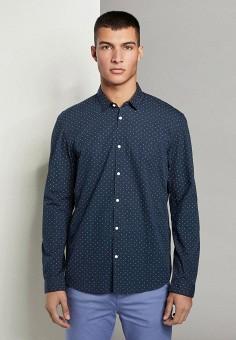 Рубашка, Tom Tailor Denim, цвет: синий. Артикул: TO793EMJCPG5. Одежда / Рубашки / Рубашки с длинным рукавом