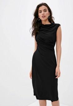 Платье, Trussardi, цвет: черный. Артикул: TR002EWHKVJ1. Одежда / Платья и сарафаны / Вечерние платья
