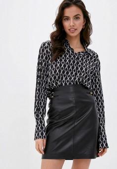Блуза, Trussardi, цвет: черный. Артикул: TR002EWHKVJ6. Одежда / Блузы и рубашки